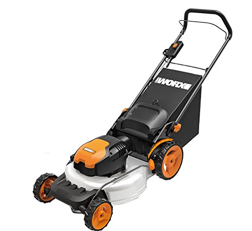 "WORX WG720 Electric Lawn Mower, 19"", Orange"
