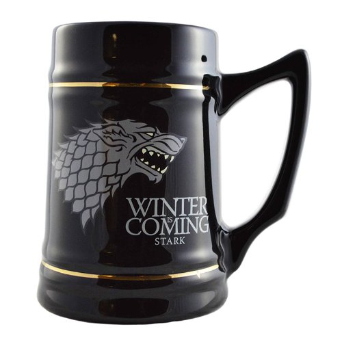 Game of Thrones Collectible Ceramic Stein-House Stark, Black