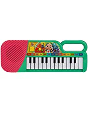 Cocomelon First Act Musical Keyboard, 23 Keys; Music And Abc Songs Pre-Recorded, Educational Music Toys, Carry N' Go Handle