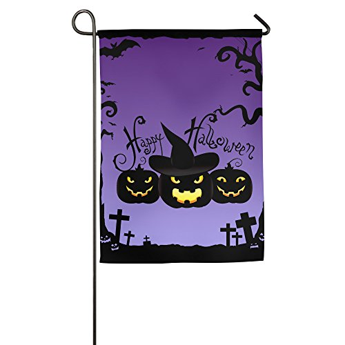 Halloween Pumpkin 100% Polyester Outdoor Flag Garden (Origin Of Halloween Hallows Eve)