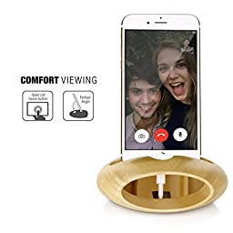 Cell Phone Charging Dock, Jelly Comb Desk Stand iPhone Holder Sound Amplifier for iPhone 7/7 Plus/6s/6s Plus,iPhone Dock Wood