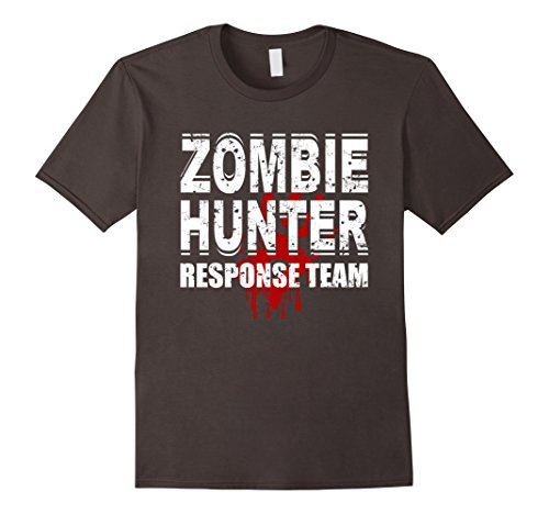 Zombie Response Costume (Mens Zombie Response Team T Shirt Zombie Hunter Costume XL Asphalt)