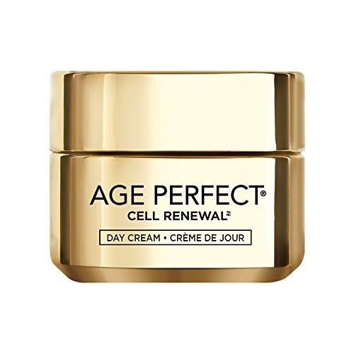 LOréal Paris Skincare Age Perfect Cell Renewal Day Cream, Anti-Aging Face Moisturizer with SPF 15 to Replump, Refresh and Renew, 1.7 oz.