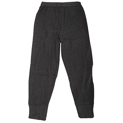 Little Boys Thermal Clothing Long Johns (British Made) (Age: 6-8, Hip: 21.5 inch) (Charcoal)