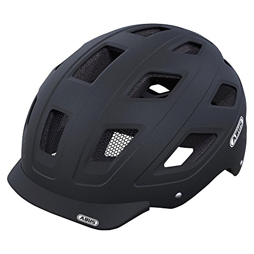 Abus Hyban Urban Helmet with Integrated LED Taillight, Velvet Black, Medium