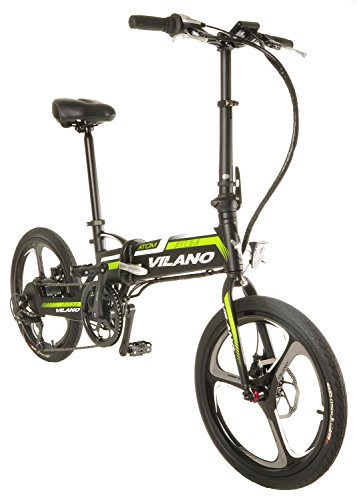 Vilano ATOM Electric Folding Bike, 20 Inch Mag Wheels