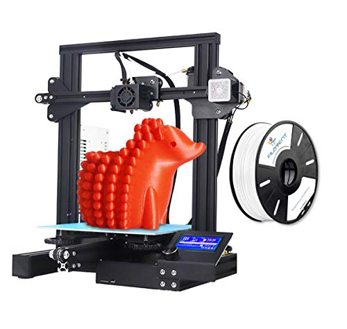 Official Creality Ender 3 Upgraded 3D Printer, Aluminum DIY 220X220X250MM Print Size with 3idea PLA White Filament