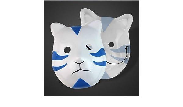 Naruto Shippuden cosplay Itachi Anbu máscara del estilo del gato: Amazon.es: Juguetes y juegos