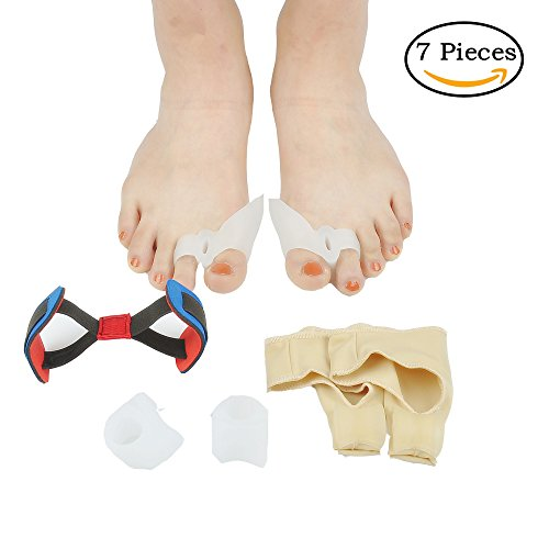 Bunion Corrector & Bunion Relief Protector Sleeves Kit - Hallux valgus thumb toe correction ,Toe separator,Single hole hallux valgus correction ,Hallux training belt Aid surgery treatment. (Wear Foot Protection)