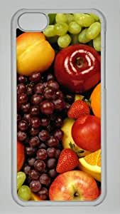 All Kinds of Fruit Food DIY Hard Shell Transparent iphone 5C Case By Custom Service Your Best Choice