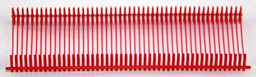 Amram 1 Inch Standard Tagging Attachments, 5,000 Pcs, 50 Pcs Per Clip- Red
