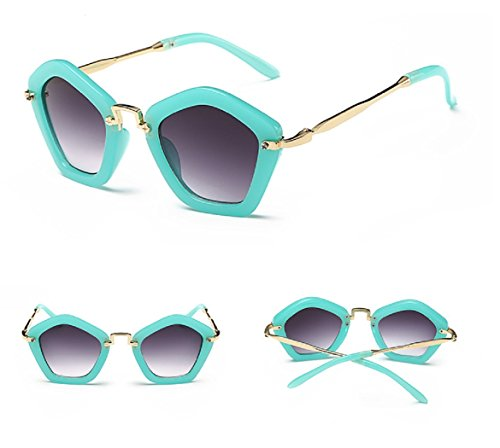 Alloy Frame Eyeglass (Fashion Brand Designer Children Sunglasses Retro Metal Eyeglasses Frame (Green))