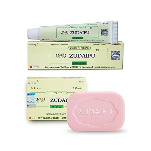 2 in 1 ZUDAIFU Soap+Cream Antibacterial Ointment Creams SILVERCELL Bathroom Set
