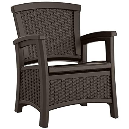 Amazon Com Suncast Elements Club Chair With Storage Lightweight