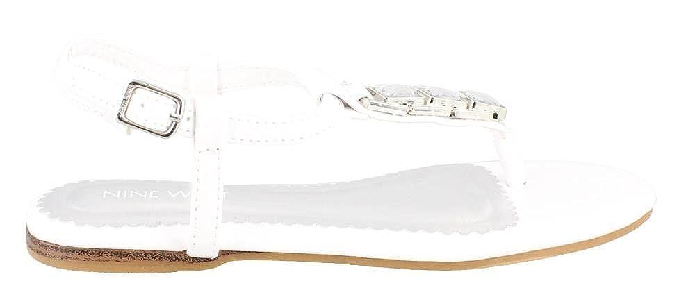 Shayne 2 thong Sandal WHITE 1.5 M Girls Nine West