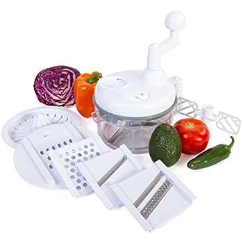 Kitchen Plus 3000 Food Chopper   8 In 1 Manual Food Processor Chop, Blend,