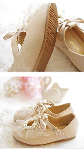 Ohmais Kinder Mädchen flach Freizeit Sandalen Sandaletten Kleinkinder Mädchen Halbschuhe Sandalette Ballerinas Apricot