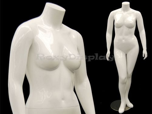 Plus Size Mannequins - (MD-NANCYBW1S) ROXY DISPLAY Mature Plus Size Headless mannequin w/ high heel feet feature..