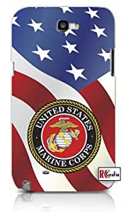 United States Marine Corps American Flag Apple Iphone 5 Quality TPU Soft Rubber Case for Iphone 5/5s - AT&T Sprint Verizon - White Case