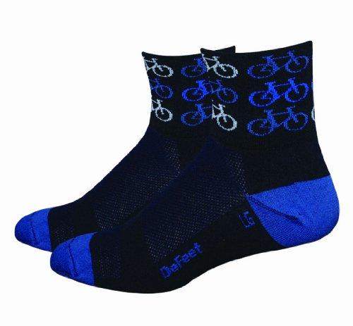 DeFeet Men's Aerator Cool Bikes Sock, Black, X-Large