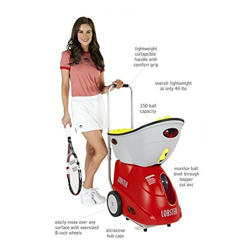 Lobster Elite Grand Four Tennis Ball Machine bundled with Elite Storage Cover - Lifestyle Updated