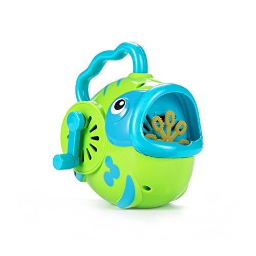 ToyerBee Bubble Hurricane Machine in Fish Shape for Kids Hand-Operated Toy Bubble Maker for Toddlers( Not Include Bubble Solution) , Random Colors (Bubble Maker For Babies compare prices)
