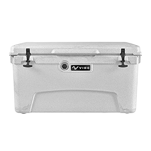 (Vibe Element 75 Quart Rotomolded Hard Shell Cooler with Bottle Opener, Alpine Gray)