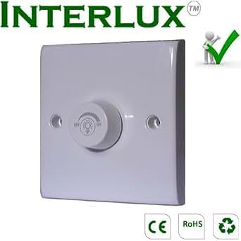 Interlux - Interruptor (con regulador de intensidad), color blanco
