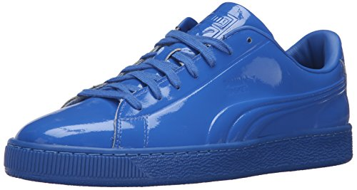 Patent Mens Sneakers (PUMA Men's Basket Classic Patent Emboss Fashion Sneaker, Royal, 10.5 M US)