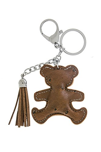 [TRENDY FASHION JEWELRY FAUX CROCODILE LEATHER BEAR KEYCHAIN BY FASHION DESTINATION | (Brown)] (Bear Jew Costume)