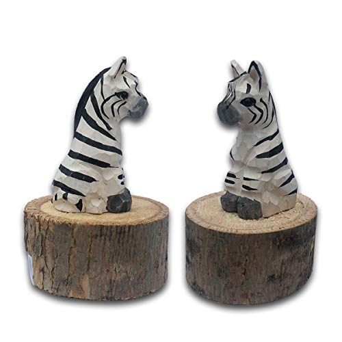 - BYLA Manual Mechanical Sharpeners, for Kids & Colored Pencils, 1-Pack, Wooden animal shape pencil sharpener, handmade - Zebra