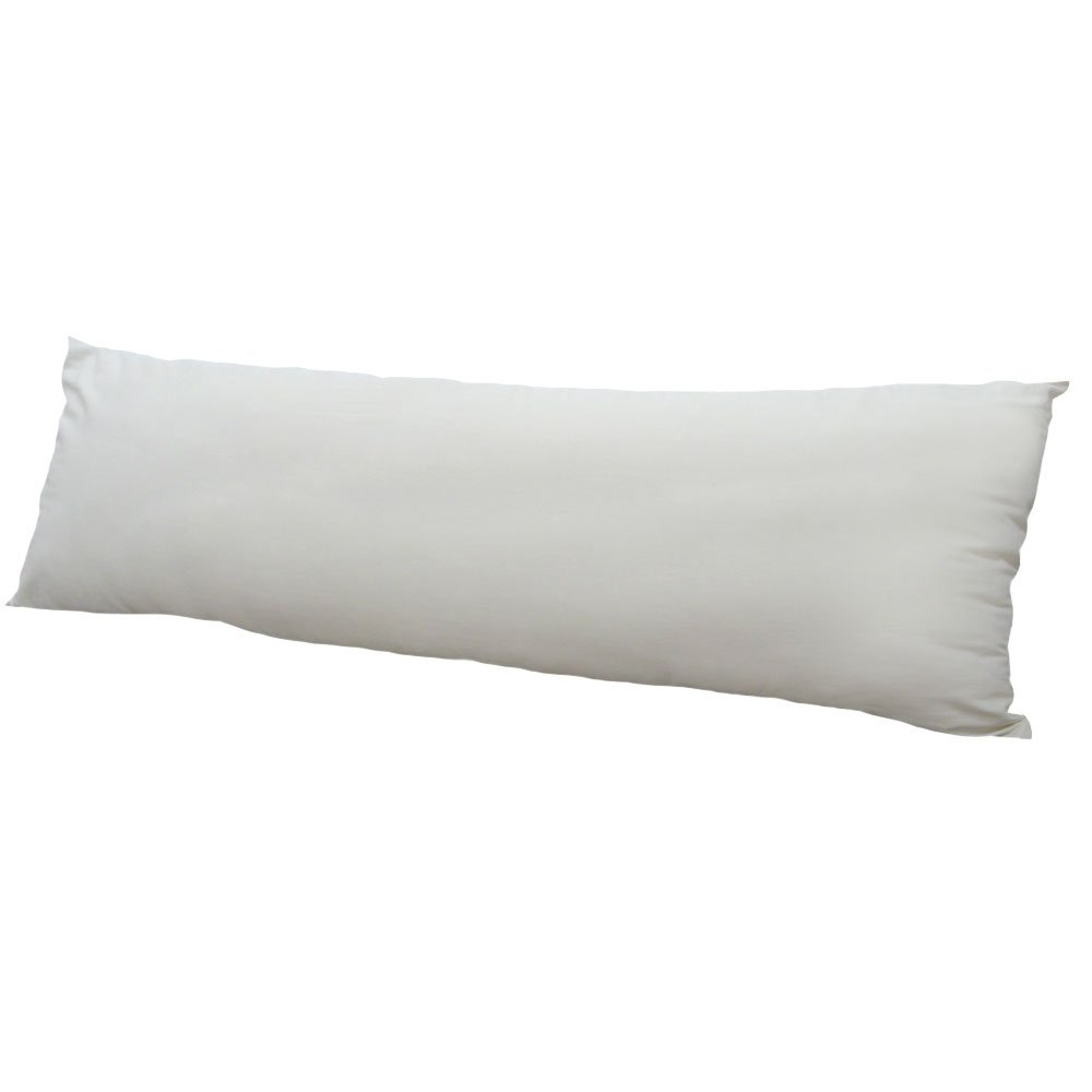 GOTS-Certified Organic Cotton Body Pillow; Size 20 x 60 Inches - Handmade in the USA by LIFEKIND