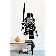 Lego Star Wars Vinyl Wall Decals Movie Film Funny Darth Vader with Lightsaber Stickers Vinyl Murals Removable Decors MK1992