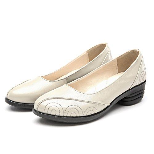 En la moda con zapatos de cuero/Zapatos con gruesas con cabeza redonda/El resorte zapatos de tacón bajo de poca profundidad en la boca de solteros B
