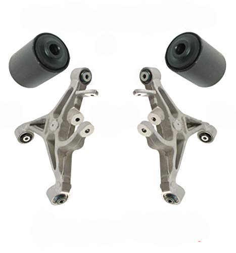 Hamburg-Technic Jaguar XJ S Type Rear Lower Control Arm Arms Bushing Bushings Set 2 - Both Arms (Jaguar X Type Rear Control Arm Replacement)