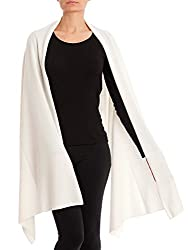 Dalle Piane Cashmere Stole Cashmere Blend Made In Italy Color White One Size
