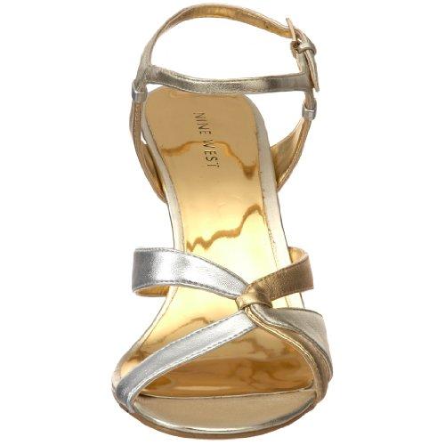 8 Multi Tobillo Sandalia Gold Nine West Oro Para Del Nwyasamin Cm Correa 5 Tacón Mujer De La wOSPYxgP