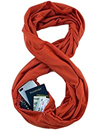 TRAVEL SCARF by WAYPOINT GOODS // Infinity Scarf w/ Secret Hidden Zipper Pocket