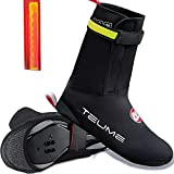 TEUME Bike Shoe Covers with Led Safety