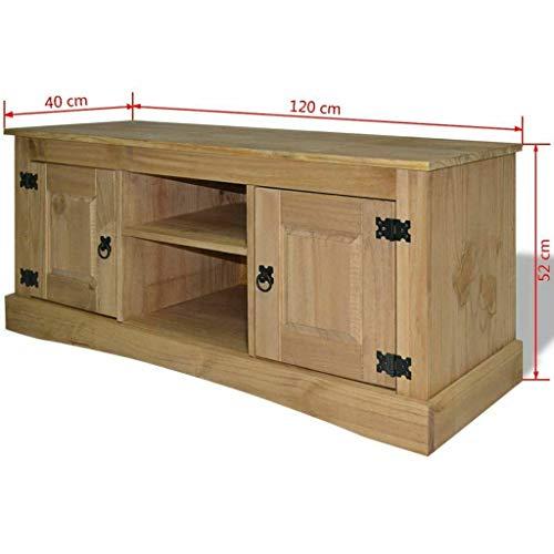 Alek...Shop Media Home Entertainment TV Center Sideboard Bookcase Furniture Design Cabinet Mexican Pine Corona Range Home Decor