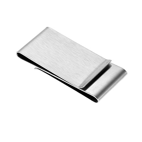 HooAMI Mens Stainless Steel Double-Sided Smart Money Clip & Credit Card Holder ()