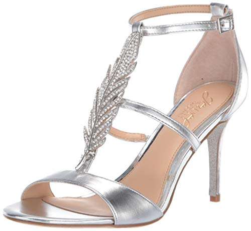 Badgley Mischka Jewel Women's Kalama Heeled Sandal Silver/Metallic 8 M - Sandals Jewel Metallic