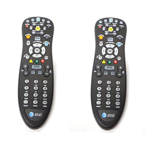 2-LOT Pair Set Genuine AT&T U-Verse Uverse S10-S4 Standard IR Infrared Multifunctional Digital DVR TV Television Universal Cable Box Black Remote Control Compatible Part Numbers: D-5456262551911, CYB UG-R#0713
