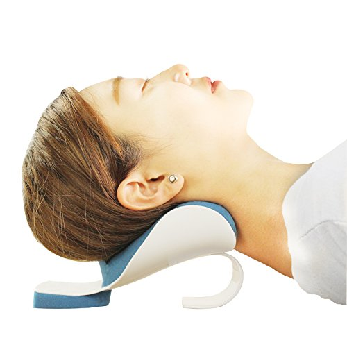 Rearand Neck And Shoulder Relaxer Neck Pain Relief And Support And Shoulder Relaxer Massage Traction Pillow