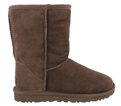 UGG Australia Women's Classic Short Chocolate Sheepskin  Boot - 5 B(M) ()