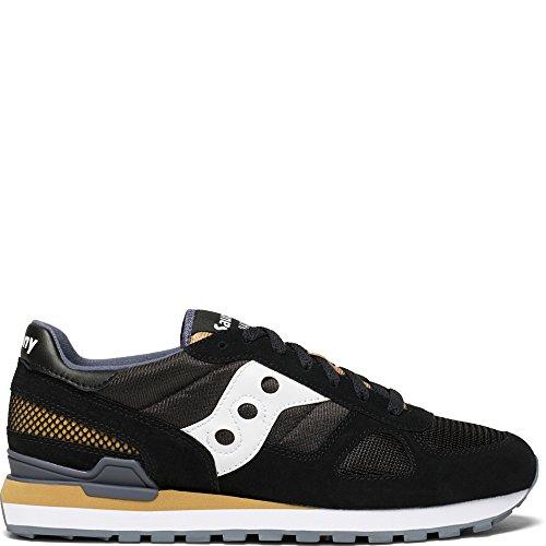 Saucony Originals Men's Shadow Original Running Shoe, Black/White, 9.5 Medium US