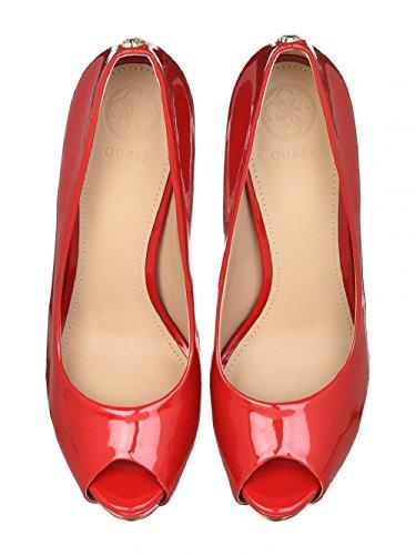 Adivinar Zapatos Rojos De Tacón Alto Y La Tapa Abierta N 37.5