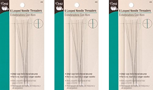 1 Pack Dritz Dritz Looped Needle Threaders - 6 Count (3 Pack)