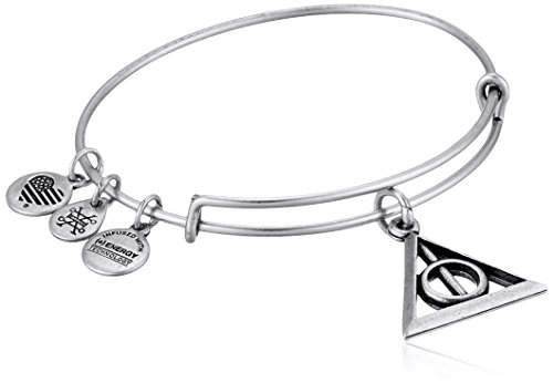 Alex and Ani Deathly Hallows EWB Rafaelian Silver Bangle Bracelet by Alex and Ani