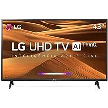 Smart TV LED 43 UHD 4K LG 43UM7300 ThinQ AI HDR Ativo WebOS 4.5 DTS Virtual X , em breve com Alexa Integrada